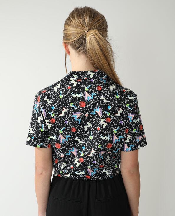 Chemise fantaisie à nouer noir - Pimkie