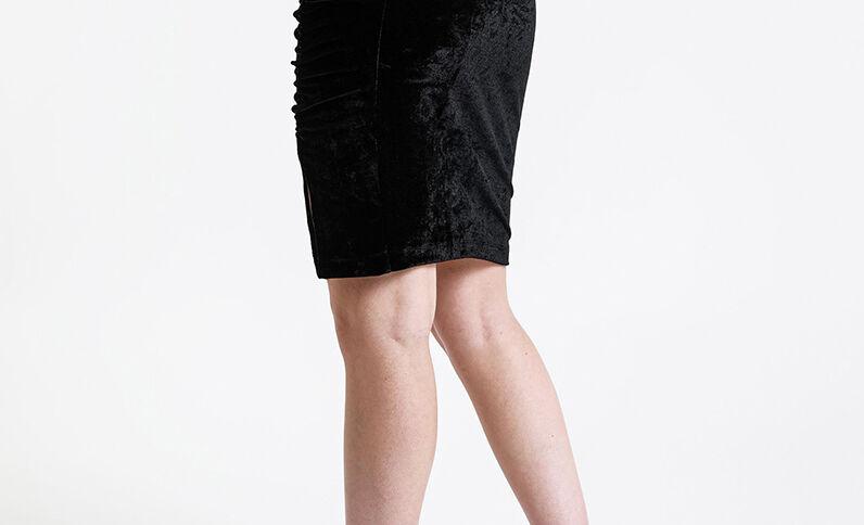 Fluwelen rok zwart