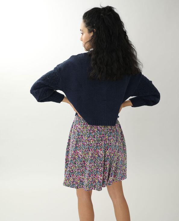 Vest van origineel tricot marineblauw