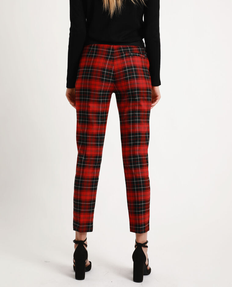 Pantalon à carreaux rouge