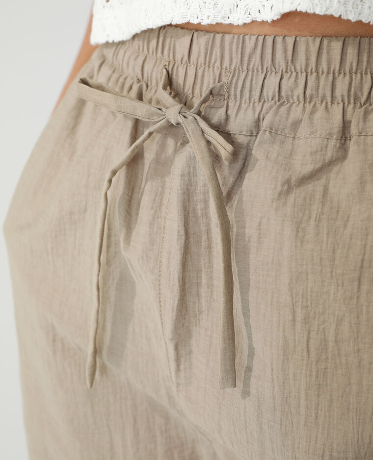 Short met elastische taille Beige - Pimkie