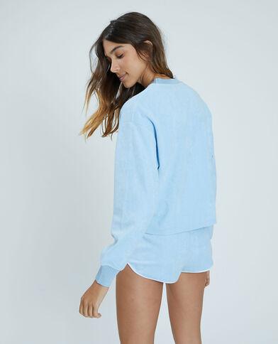 Sweat éponge bleu - Pimkie