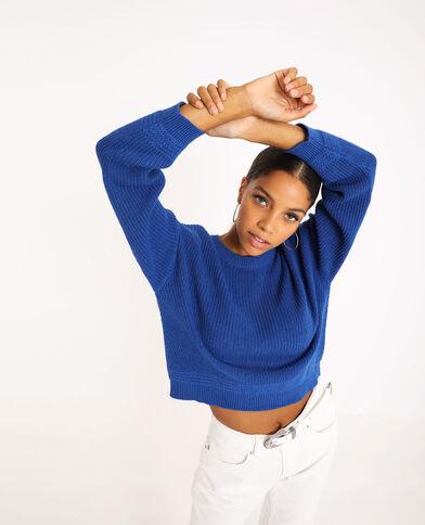 Basic trui blauw