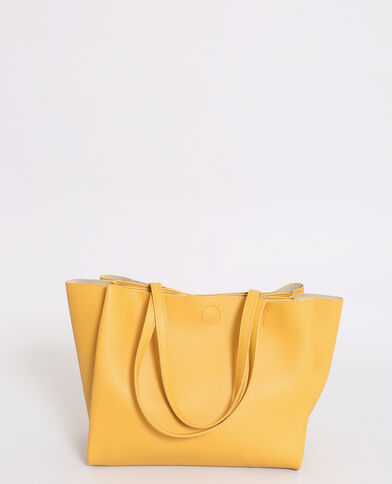 Soepele shopper geel