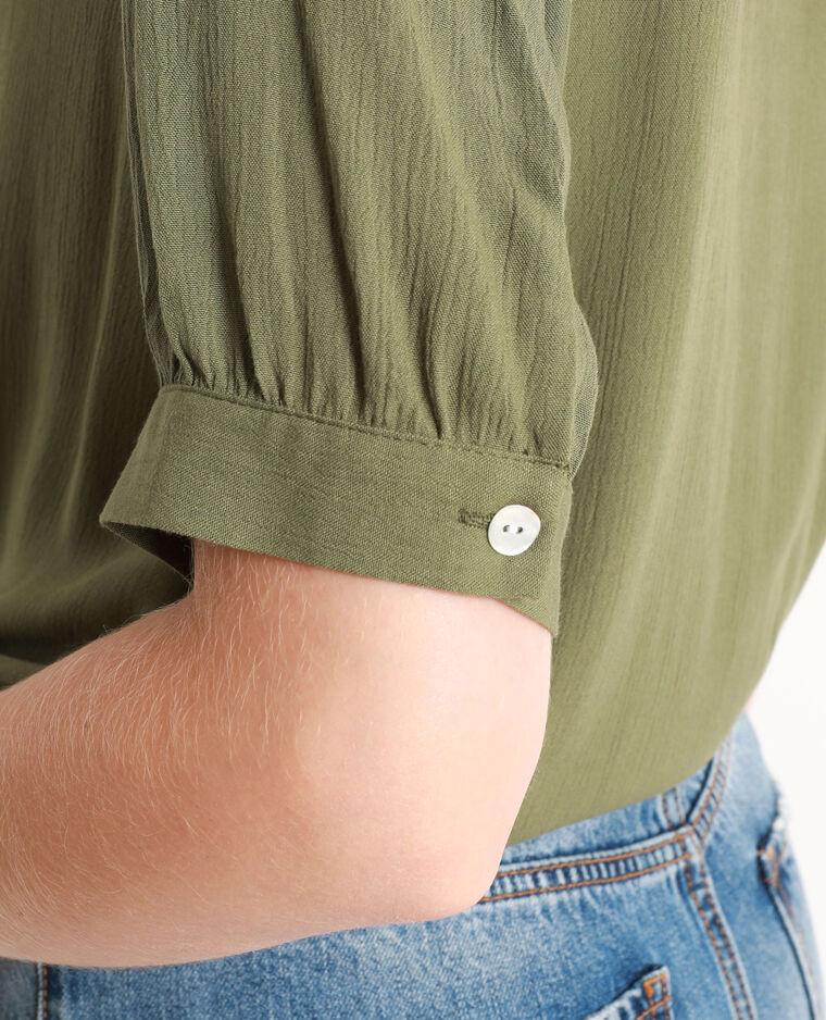 Chemise à nœud vert