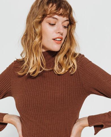 T-shirt boutonné marron