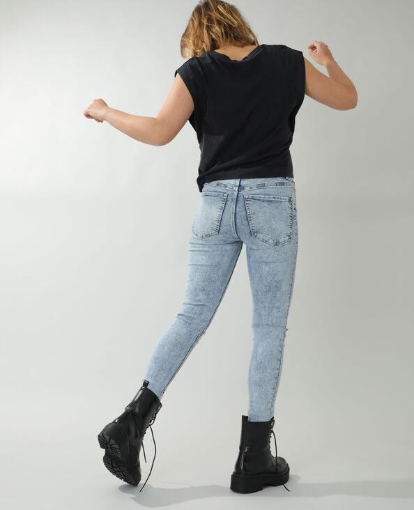 Skinny jeans met hoge taille Lichtblauw - Pimkie