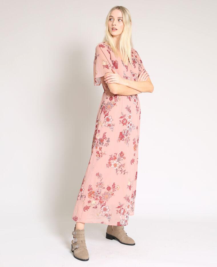 grossiste 34935 009ae Robe longue à fleurs