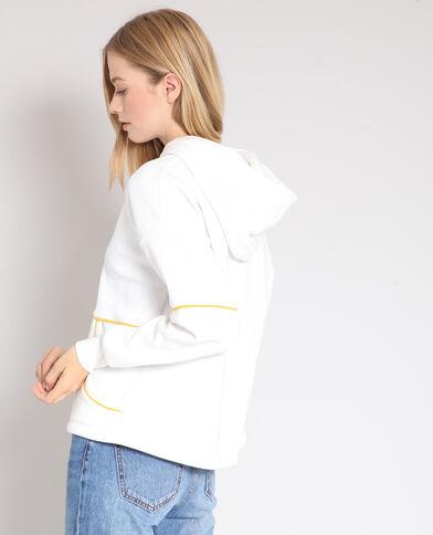 Sweater met kap gebroken wit