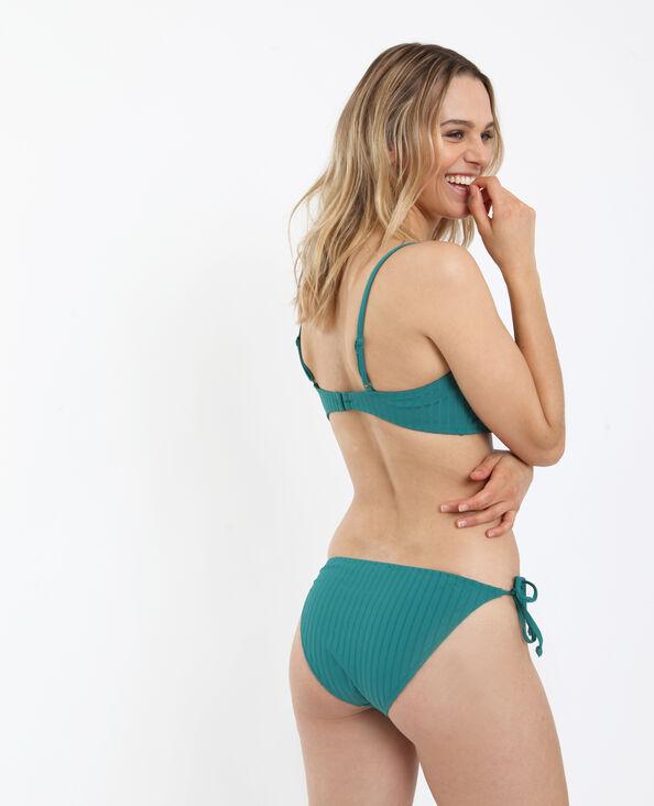 Bikini bandeau vert
