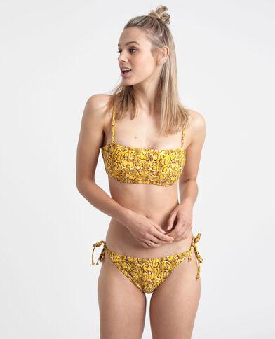 Bikinitop met pythonprint geel