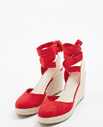Sandalen met sleehak rood