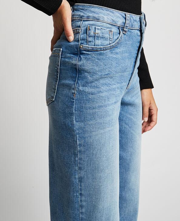 Wide leg jeans met hoge taille denimblauw - Pimkie