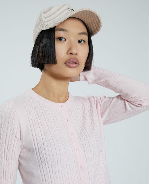 Cardigan met kabelpatroon roze - Pimkie