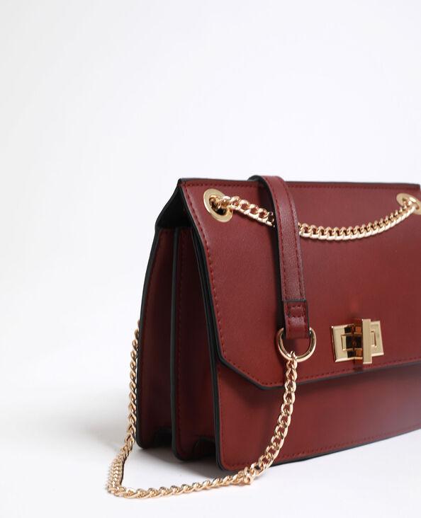 Petit sac en faux cuir Bordeaux
