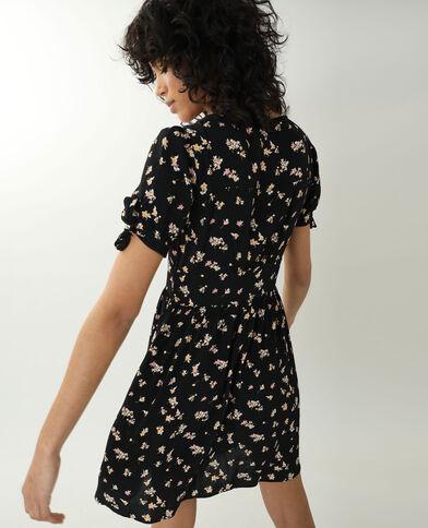 Jurk met bloemenprint zwart - Pimkie