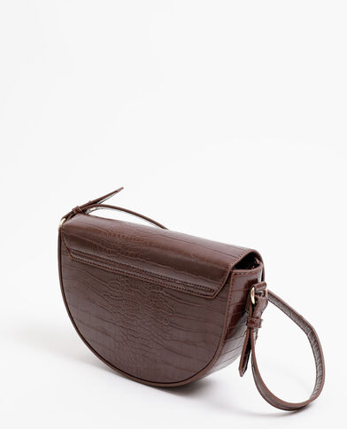 Sac demi-lune marron