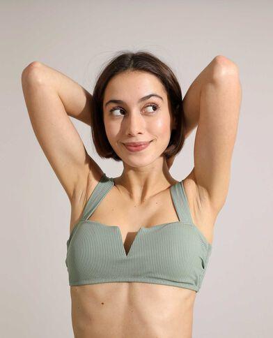 Sportieve bikinitop van ribstof groen - Pimkie
