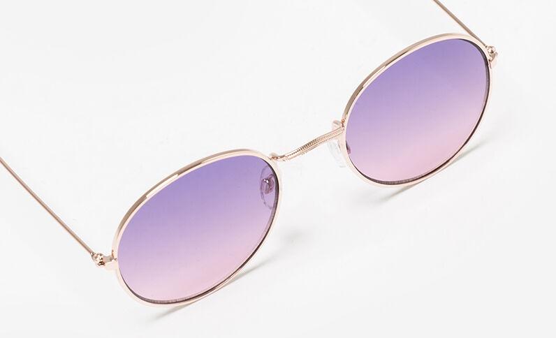 Zonnebril met ronde glazen roze