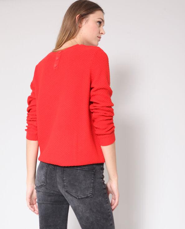 Trui in origineel tricot rood