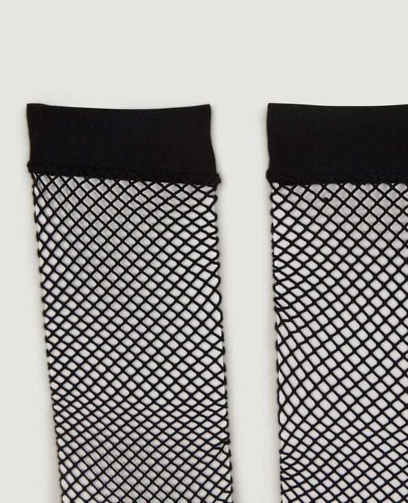 Set van 2 paar lage sokken van nettricot zwart - Pimkie