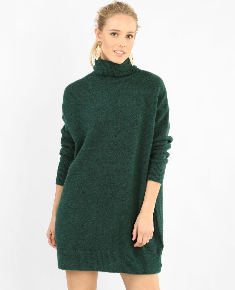 Robe pull col roulé vert - 780771C53A05   Pimkie f925fca154f9