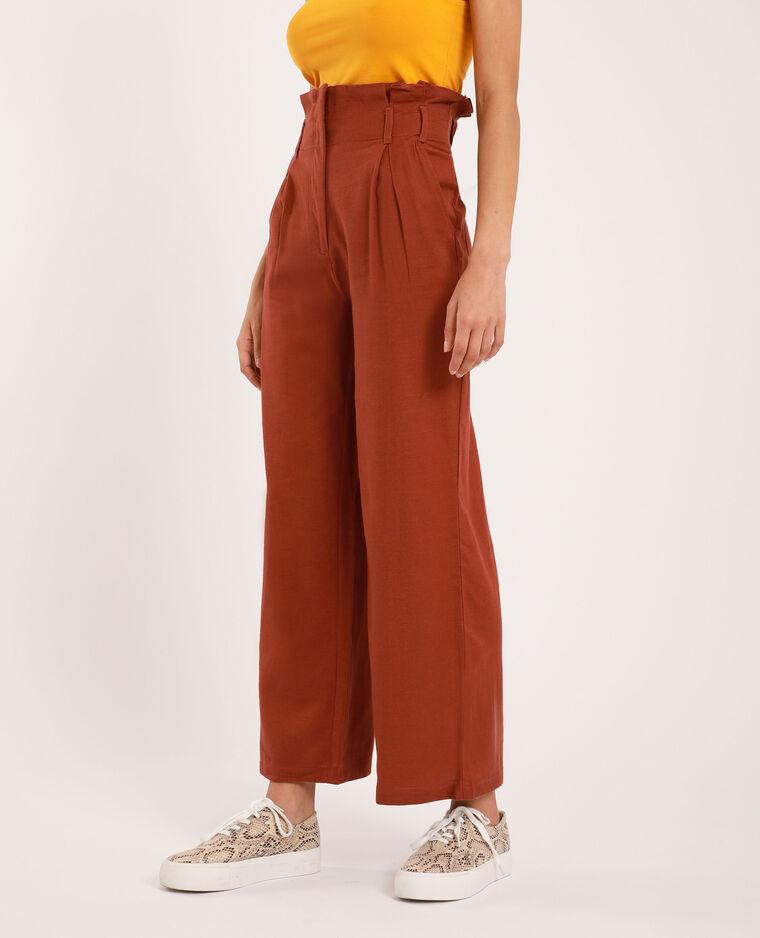Pantalon large beige poudré - Pimkie