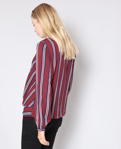 Blouse à rayures rouge