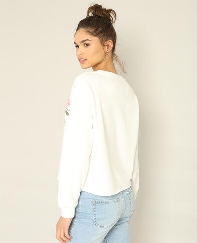 Sweater met print wit