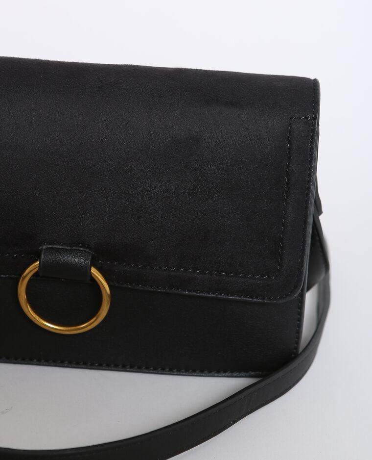 Tasje uit twee materialen zwart