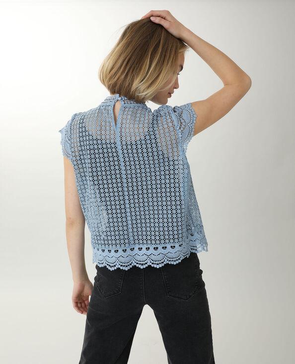 Shirt van kant blauw - Pimkie