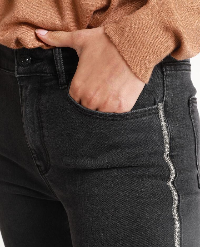 Skinny jeans met stras zwart