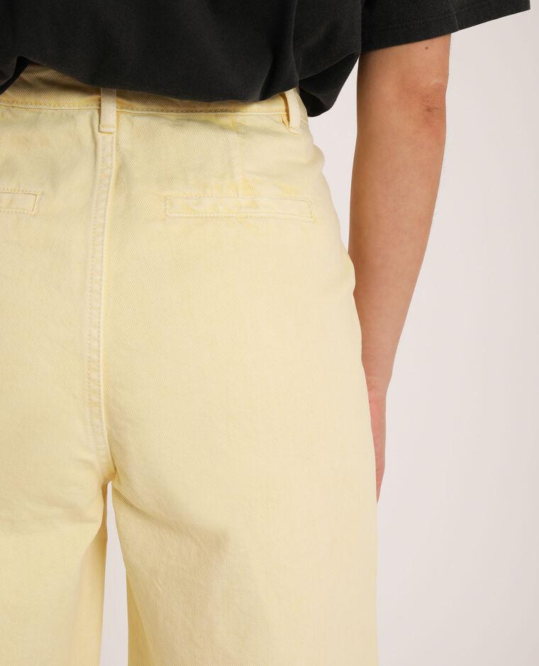 Jean wide leg beige