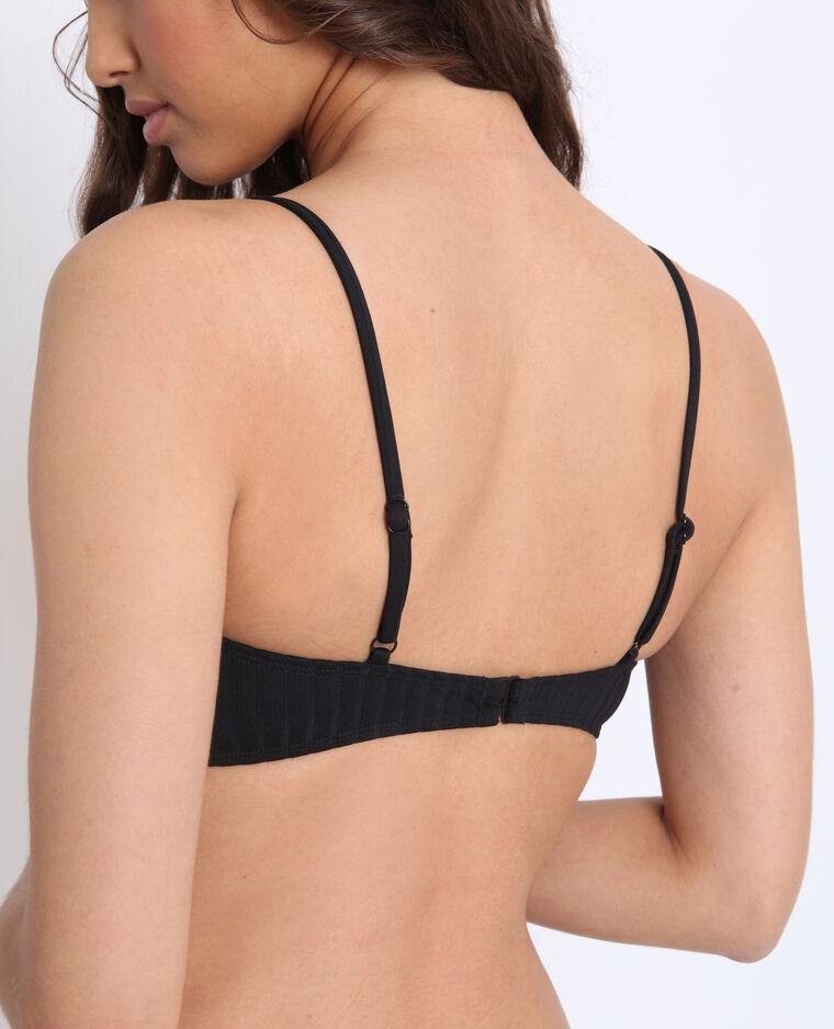 Bandeau bikini noir