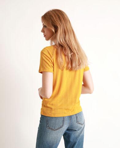 T-shirt met korte mouwen geel