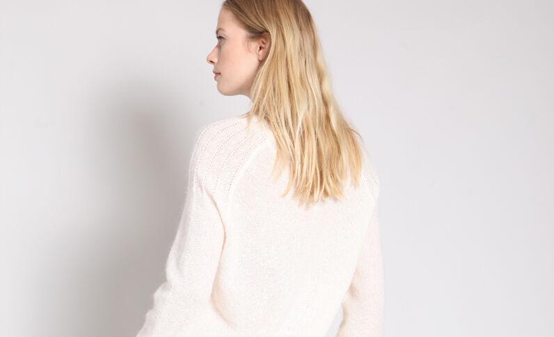 Lichte trui gebroken wit