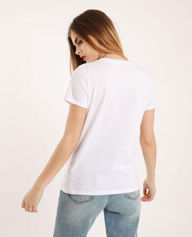 T-shirt 'Girls support girls' ecru