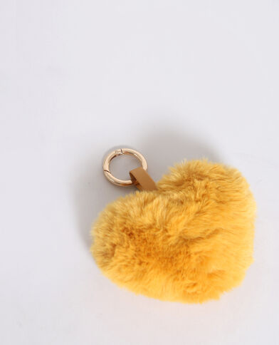 Hartvormige sleutelhanger mosterdbruin