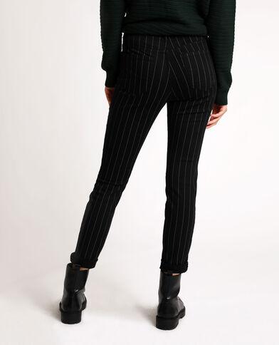 Skinny broek met print zwart