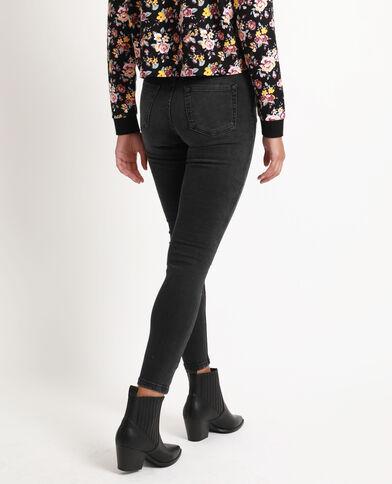 Skinny jeans met middelhoge taille zwart