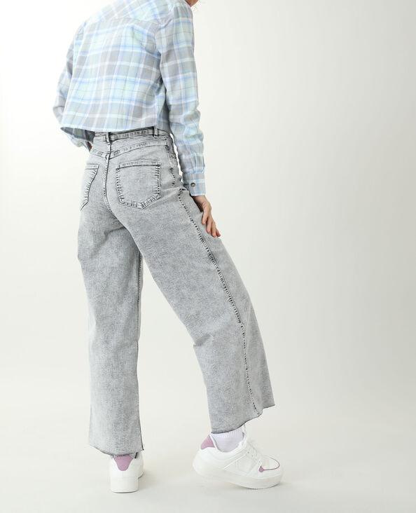 Wide leg jeans grijs