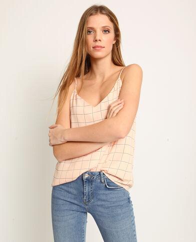 Topje met dunne schouderbandjes roze