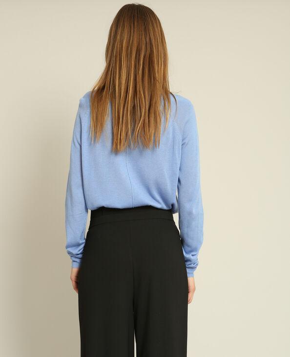 Lichte basic trui hemelsblauw