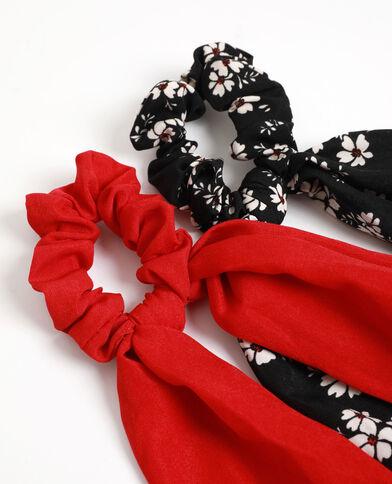 Lot de 2 chouchous à rubans noir