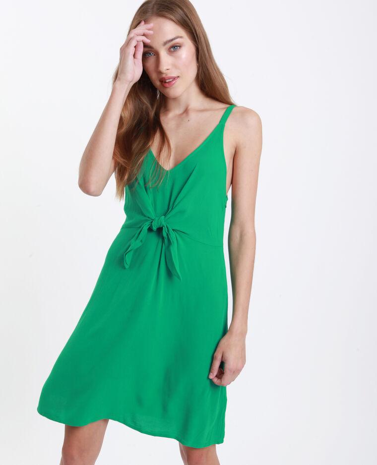 Robe nouée poitrine vert