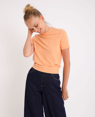 T-shirt doux orange