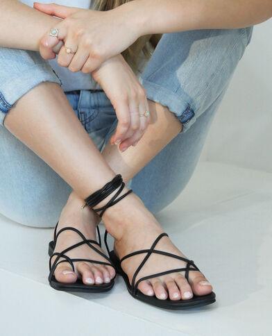 Sandalen met veters zwart - Pimkie