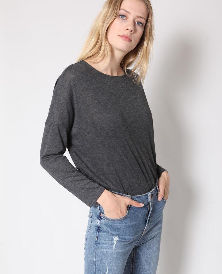 T-shirt à manches longues gris