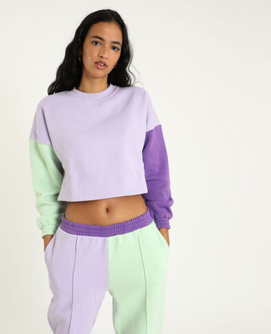 Cropped sweater violet