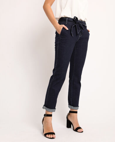 Brede jeans donkerblauw